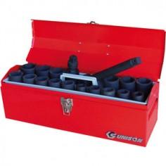 """Caisse à outils de douilles 3/4"""" à choc métriques et accessoires - 19 pièces"""