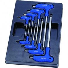 Module Servante clés mâles 6 pans à poignée en L - 8 pièces King tony