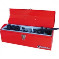 """Caisse à outils de douilles 1/2"""" à choc métriques et accessoires - 22 pièces"""