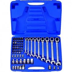 Coffret de clés mixtes à cliquet métriques avec jeux de douilles TORX® - 62 pièces