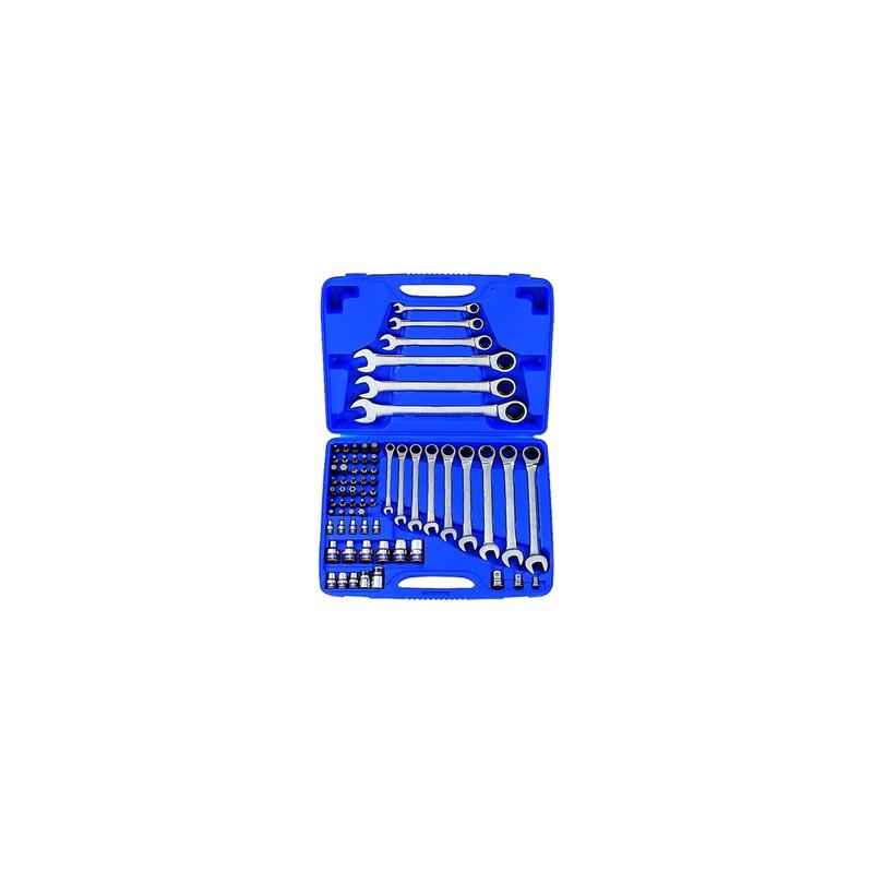 Coffret de clés mixtes à cliquet métriques avec jeux de douilles TORX® - 68 pièces