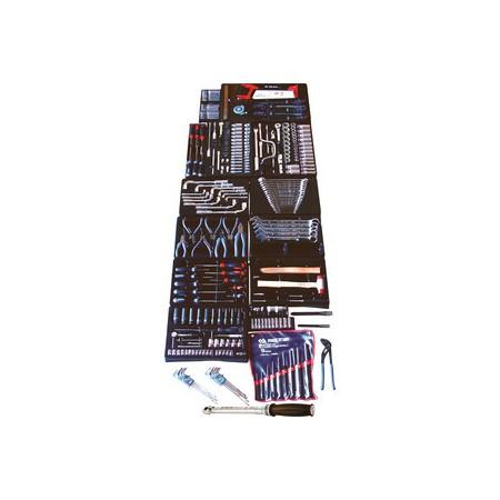 Servante d'atelier avec portes latérales - 9 tiroirs complete 308 Outils