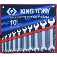 Trousse de clés fourches en pouces - 10 pièces king tony