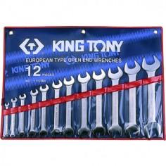 Trousse de clés fourches en pouces - 12 pièces king tony