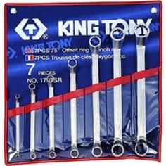 Trousse de clés polygonales contrecoudées pouces - 7 pièces king tony