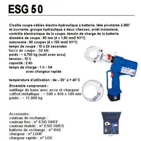 Cisaille coupe-câbles électro-hydraulique ESG50