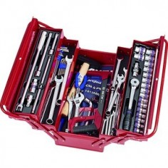Caisse à outils complète - 87 pièces