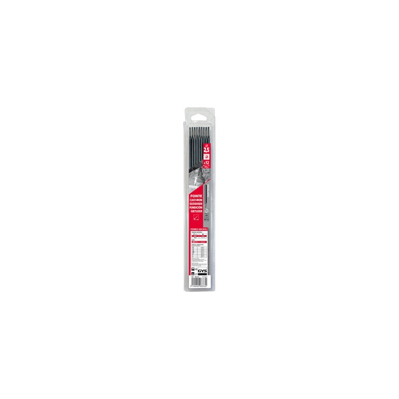 12 électrodes fonte, Ø 2,5 mm (blister)