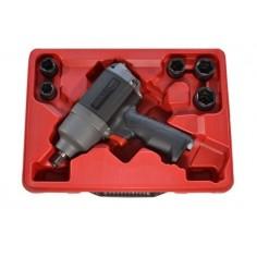 Clé à chocs composite UT8171 en coffret avec 5 douilles chocs intensives 16-17-19-22-24 mm
