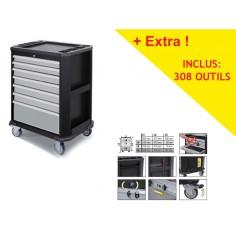 Servante d'atelier 7 tiroirs avec 308 Outils COMPLETO Kraftwerk 2907-4917