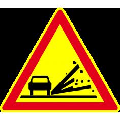 Panneaux de signalisation routière AK22 Annonce Projection de gravillons