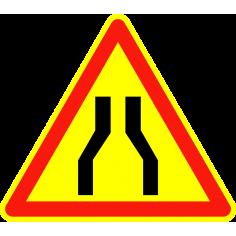 Panneaux de signalisation routière AK3 Annonce Chaussée rétrécie
