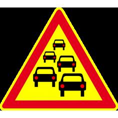 Panneaux de signalisation routière AK30 Annonce Bouchon