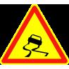 Panneaux de signalisation routière AK4 Annonce Chaussée glissante