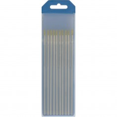 10 électrodes tungstene WL15 ø2 AC/DC